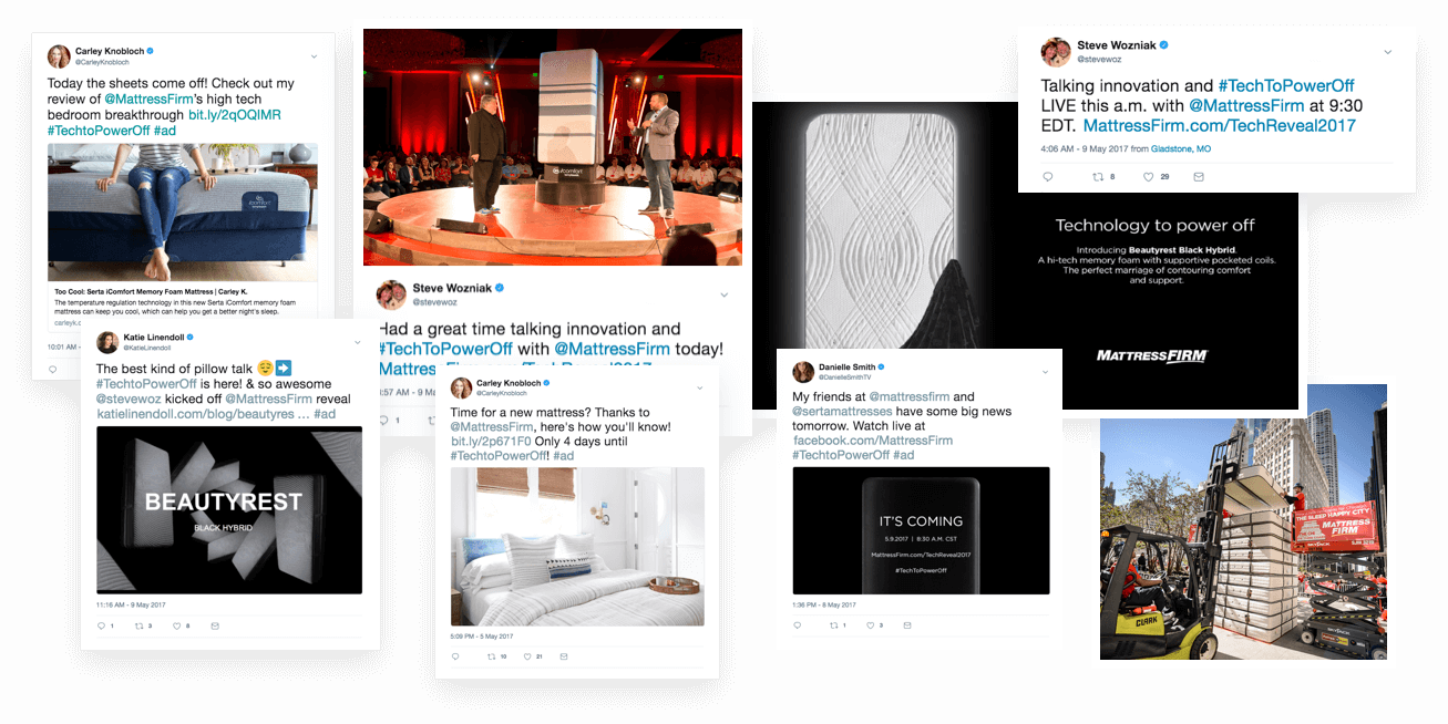 Jackson Spalding - Mattress Firm Influencer Relations, social media feed