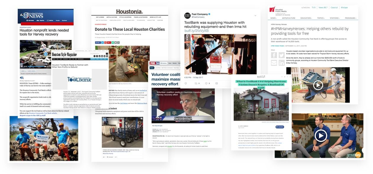 Jackson Spalding - Media Relations, ToolBank USA, Hurrican relief