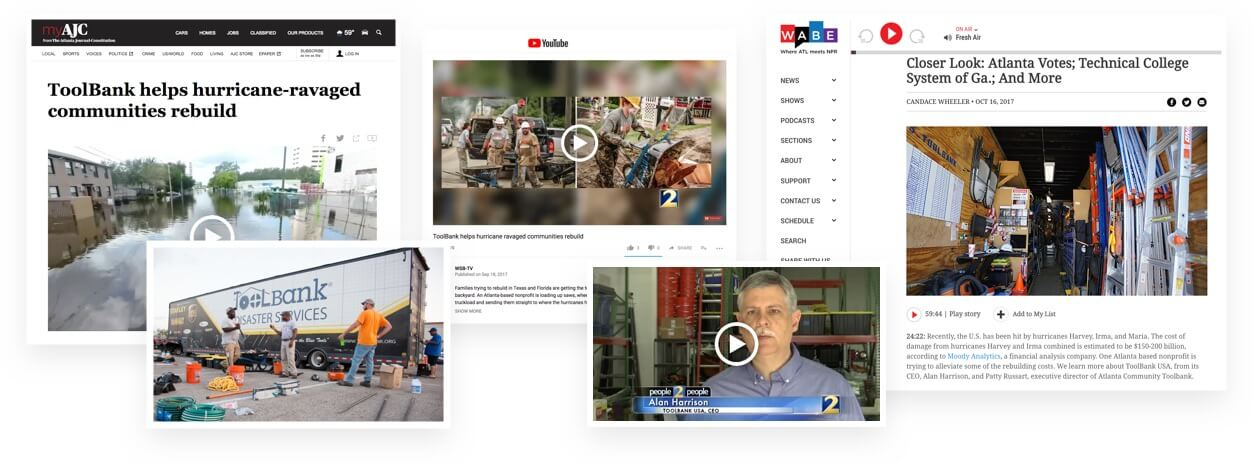 Jackson Spalding - Media Relations, ToolBank USA, Hurrican relief, Video