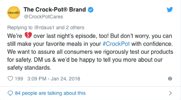 Crock-Pot PR Trend Tweet